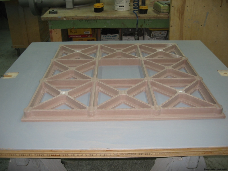 CNC cut Urethane Tooling Board Pattern
